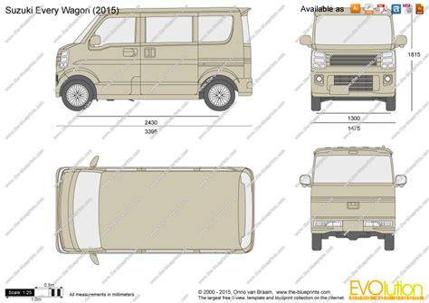 suzuki every the blueprints com vector drawing suzuki every wagon