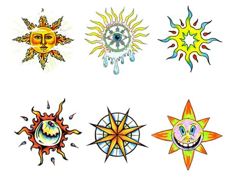 three stars and a sun tattoo designs 60 and sun tattoos ideas with meaning