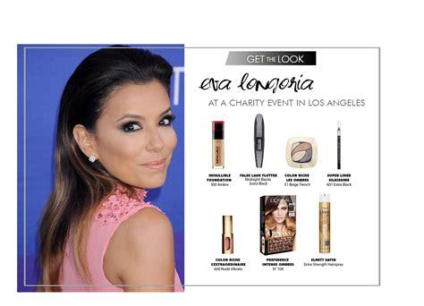 eva longoria ups the glamour for loreal paris fashion get the look eva longoria loreal makeup beauty
