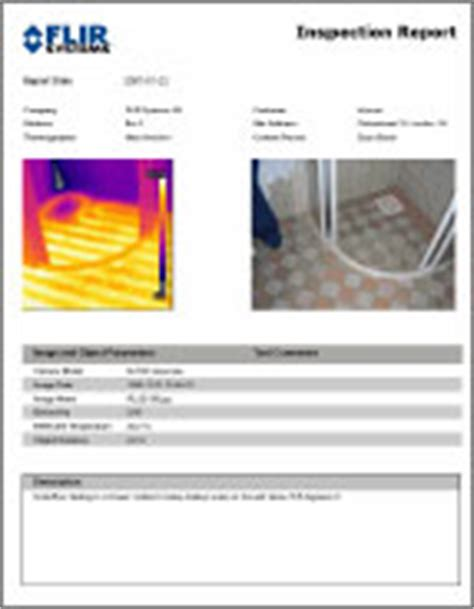 thermal imaging report template report
