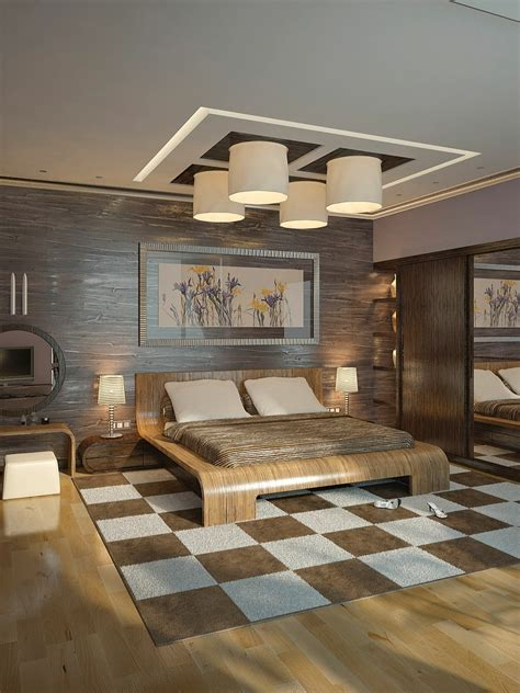 Brown Cream Modern Bedroom Interior Design Ideas Contemporary Bedroom Designs