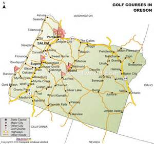 oregon golf courses map golf courses in oregon