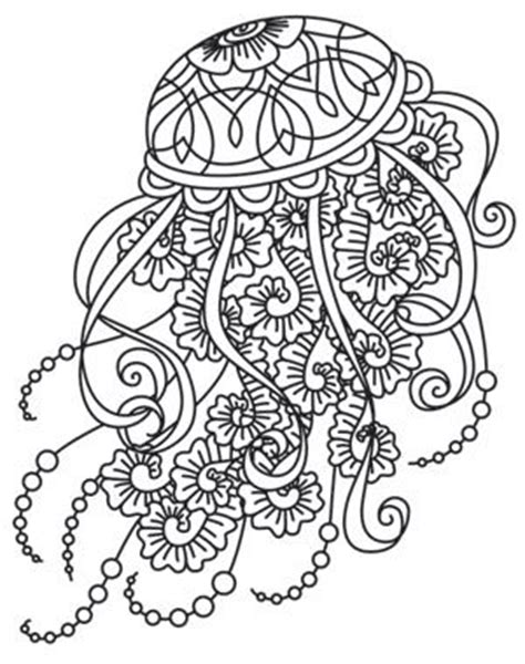 jellyfish coloring page for adults adult coloring jellyfish google search spirit guide