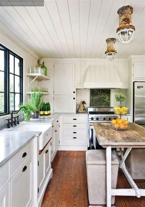 kitchen plank ceiling inspiration