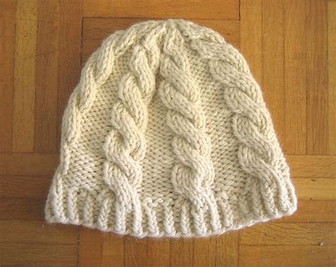 chunky yarn knit hat pattern chunky cable hat free pattern uses chunky bulky yarn