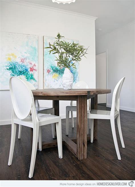 Eclectic Dining Room Chairs 15 appealing small dining room ideas home design lover