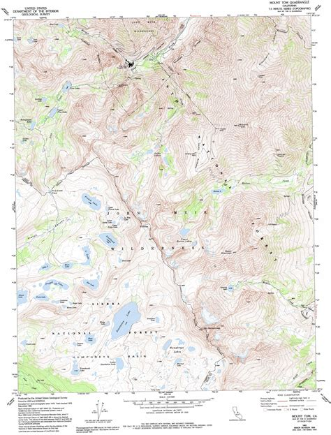 topo map mount tom topographic map ca usgs topo 37118c6
