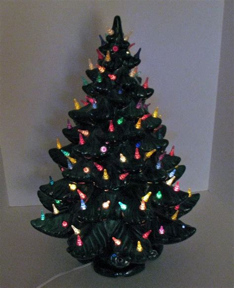 large plastic table size christmas trees that light up large vintage ceramic tree light up base faux plastic appletree junction