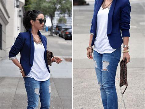 Jas Cowok Jas Exclusive Biru Navy perempuan pendek gaya vintage jaket jean rompi pakaian
