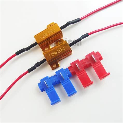 how to choose resistor for led 2pcs 25w 25 ohm load resistors for led bulbs turn signal lights rapid flash fix ebay