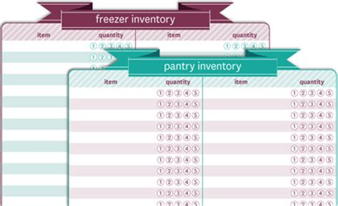 free printable pantry & freezer inventory list « buttoned up