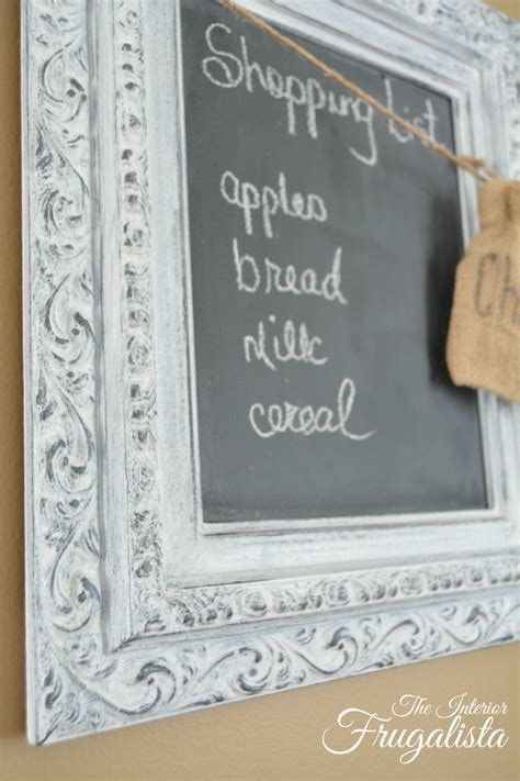 chalkboard paint national bookstore thrift store picture frames repurposed into chalkboards