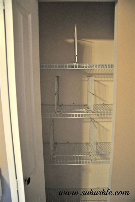 diy wire shelf dividers great for the linen closet