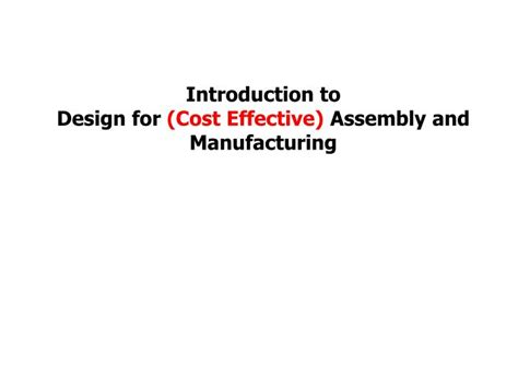 design for manufacturing assembly guidelines automotive wiring harness design guidelines pdf 47