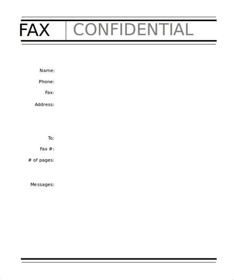 free fax cover sheet templates 10 professional fax cover sheet templates free sle