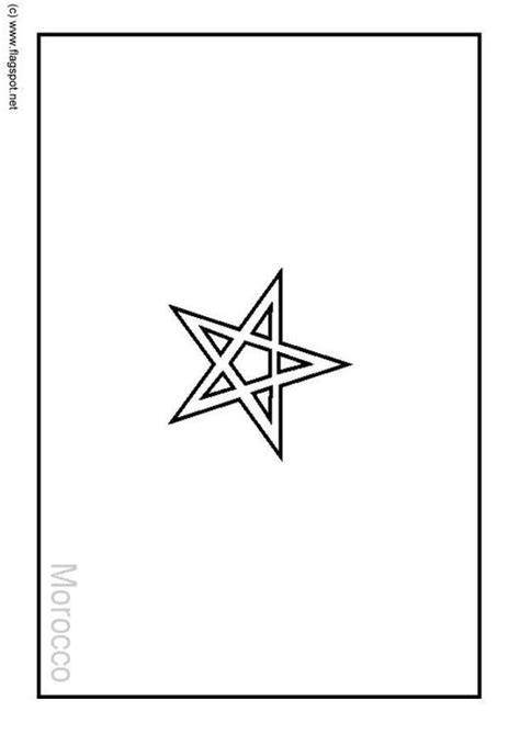 free coloring pages of morocco map