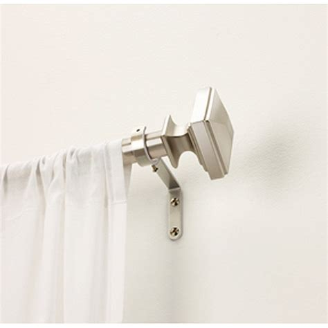 canopy curtain rod better homes and gardens pirah matte nickel curtain rod 1