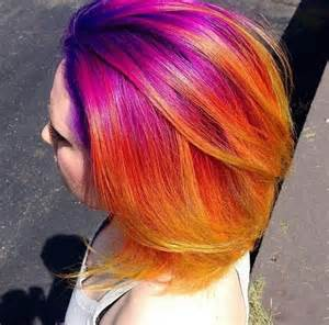sunset colored hair sunset hair color idea for summer fall 2016 best hair