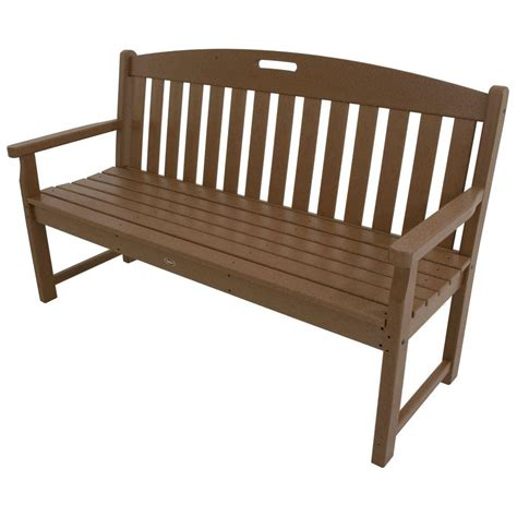 outside benches trex outdoor furniture yacht club 48 in vintage lantern patio bench txb48vl the