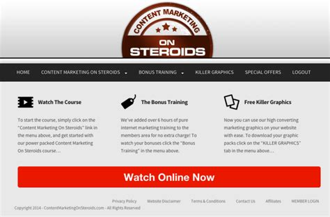 Content Marketing Course by Content Marketing On Steroids Content Marketing Course