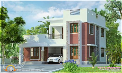 simple house designs kerala style simple flat roof house exterior kerala home design and floor plans