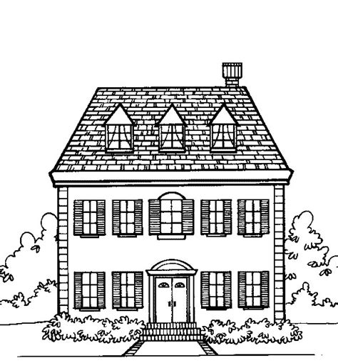 coloring pages of houses free printable house coloring pages for