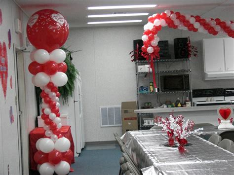 Decorating Ideas For Valentines Banquet Church Sweetheart Banquet Balloon Decor Quince