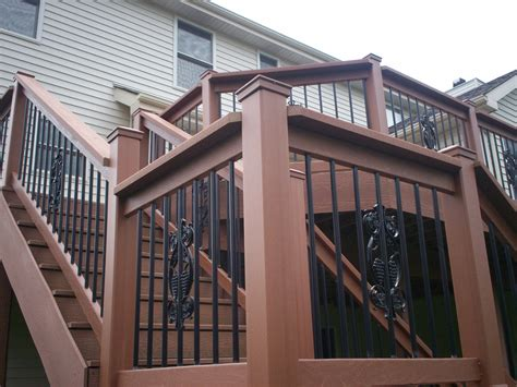Decorative Railing St Louis Deck Design Step It Up With Deck Railing And