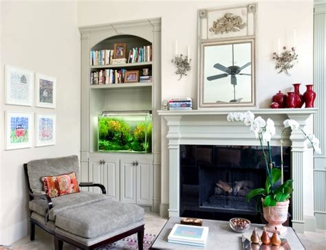 Feng Shui Aquarium In Living Room by 100 Ideas Integrate Aquarium Designs In The Wall Or In The
