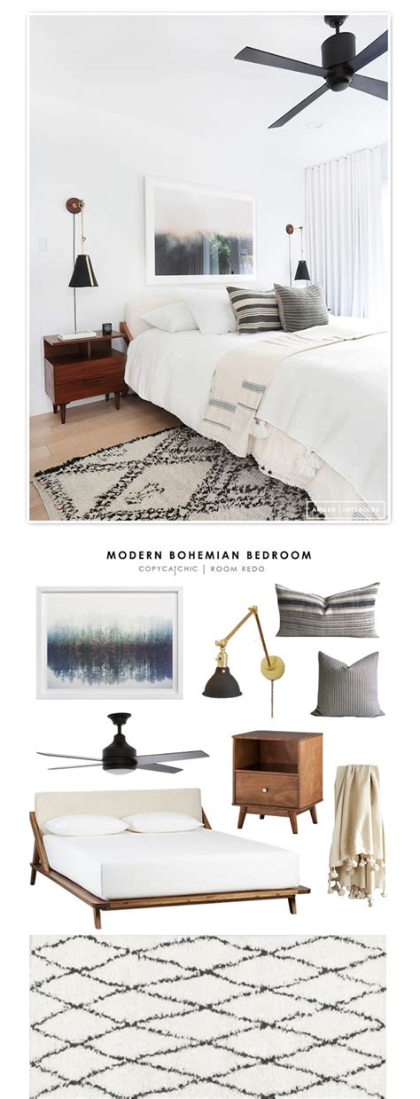 copy cat chic room redo modern bohemian bedroom