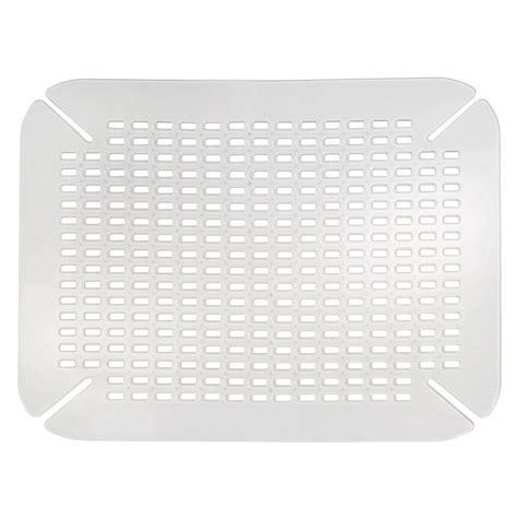 Kitchen Sink Mat by Interdesign Contour Sink Mat In Clear 59060 The Home Depot