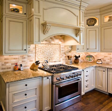 kitchen glazed cabinets glazed kitchen with contrasting island traditional