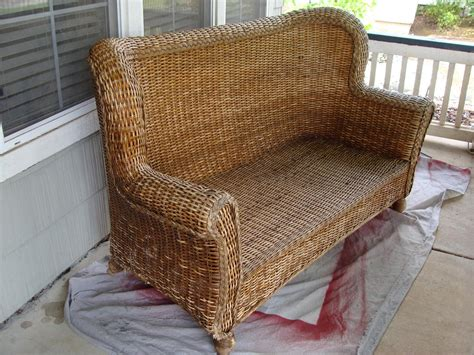 wicker loveseat diddle dumpling before and after wicker loveseat more