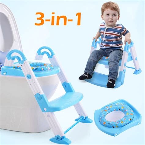 potty seat for toilet 3 in 1 fold baby potty toilet chair seat step