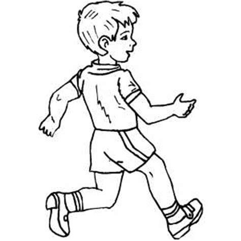 person walking coloring page fast walking boy coloring sheet
