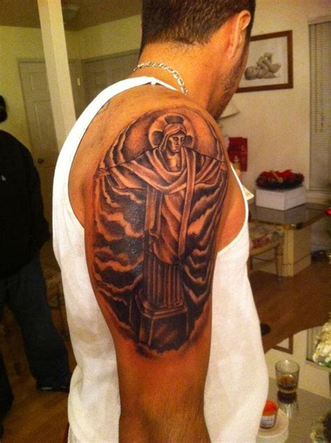 brazilian tattoo my friend s the redeemer from the statue in