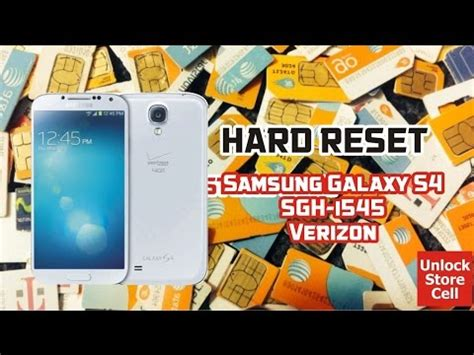 fast!!! quickly!!! hard reset samsung galaxy s4 youtube