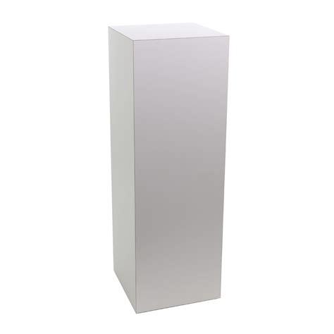 pedestal white white laminate pedestal buy acrylic displays shop