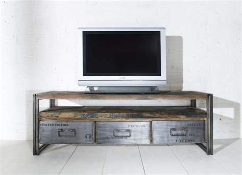 porta tv originali porta tv in legno riciclato e ferro mobili lapi shop