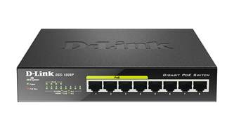 dgs 1008p 8 port gigabit poe unmanaged desktop switch d