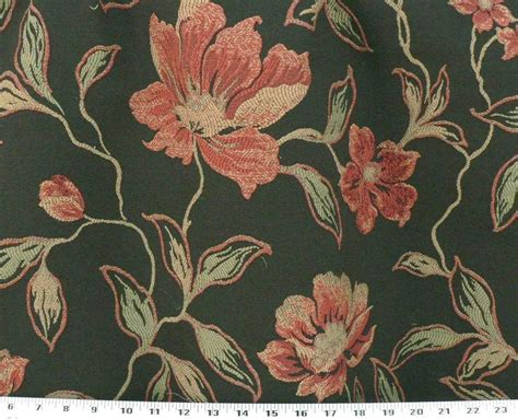 floral upholstery heavy weight upholstery fabric woven floral crewel black