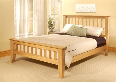 creative simple wood bed frame decorating amazing oak simple wood bed frame white
