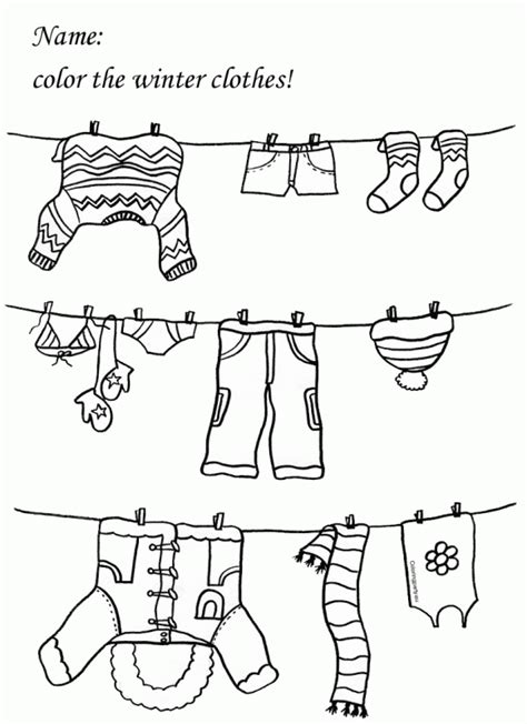 coloring page of winter clothes winter clothing coloring pages worksheet clothes google