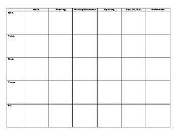 Block Lesson Plan Template By Christine Sowers Tpt Block Plan Template