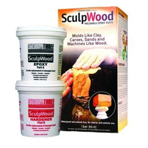 system three sculpwood 1 qt two part epoxy putty kit with