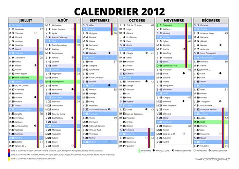 Calendrier 2012 Semaine Calendrier 2012