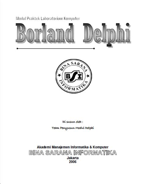 tutorial delphi bahasa indonesia pdf download ebook modul tutorial belajar borland delphi 7