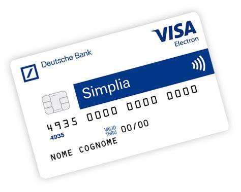 fideuram carta di credito simplia la carta di credito ricaricabile di deutsche bank