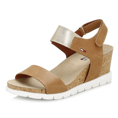 Summer Sandals In hilfiger womens summer cognac wedge sandal leather