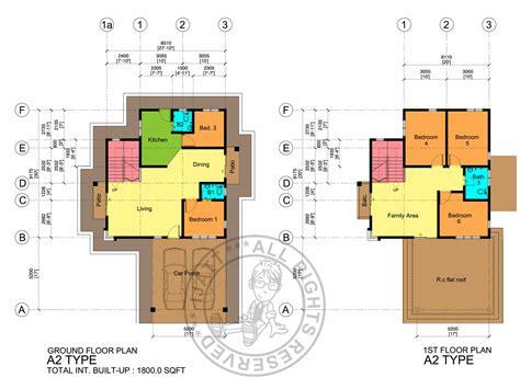 layout rumah ppa1m pelan lantai rumah 2 tingkat desainrumahid com